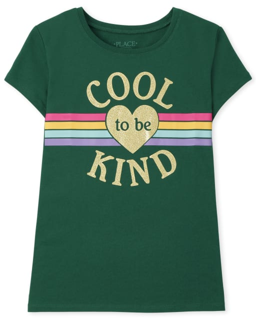 Girls Short Sleeve Cool To Be Kind Graphic Tee