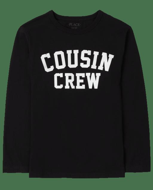 Unisex Kids Long Sleeve Cousin Crew Graphic Tee