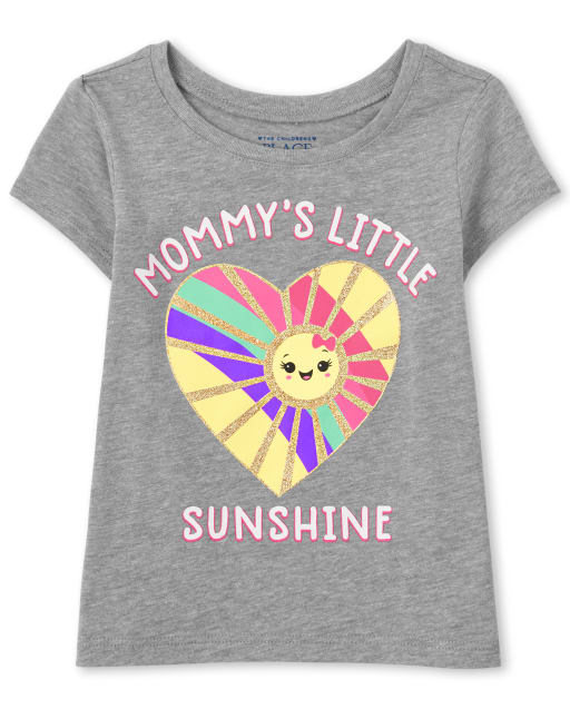 Baby And Toddler Girls Short Sleeve 'Mommy's Little Sunshine' Graphic Tee