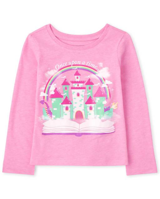 Camiseta con estampado ' Once Upon A Time ' manga larga para bebés y niñas pequeñas