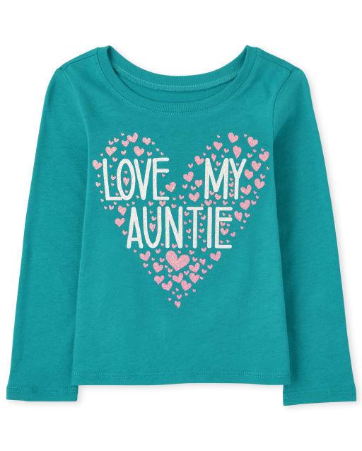 ' Love My Auntie ' manga larga para bebés y niñas pequeñas
