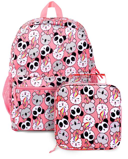 Conjunto de 2 piezas de mochila Crittercorn para niñas