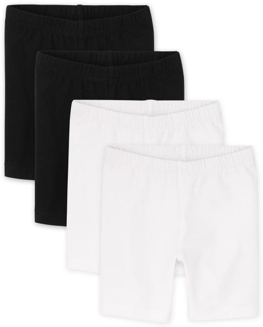 Paquete de 4 pantalones cortos de bicicleta para bebés y niñas pequeñas