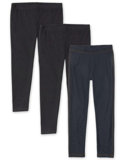 Girls Knit Leggings 3-Pack