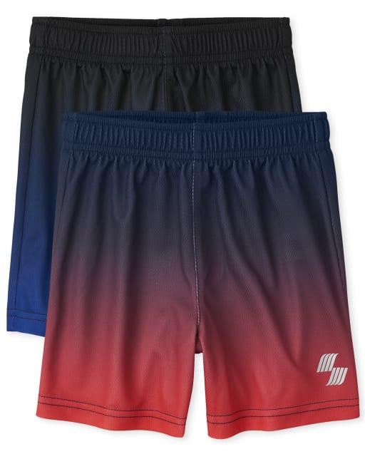 Pack de 2 pantalones cortos de baloncesto de rendimiento de punto Ombre para bebés y niños pequeños PLACE Sport