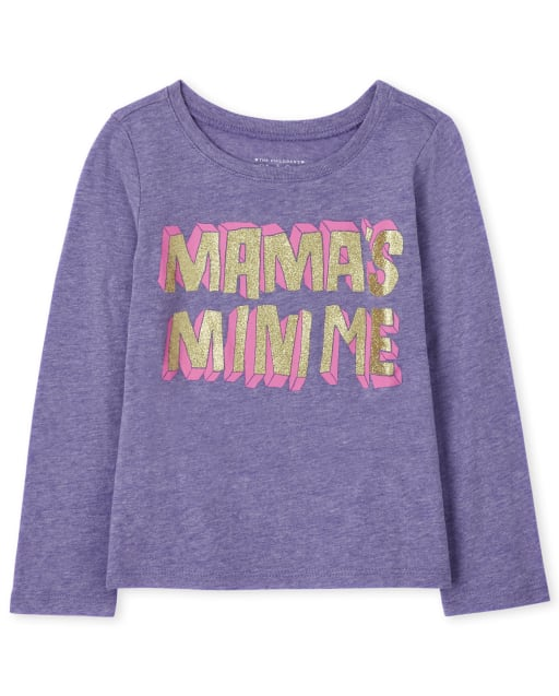 Baby and Toddler Girls Long Sleeve Mama's Mini Me Graphic Tee