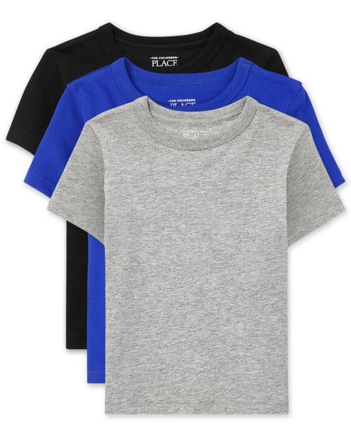Paquete de 3 camisetas básicas para bebés y niños pequeños
