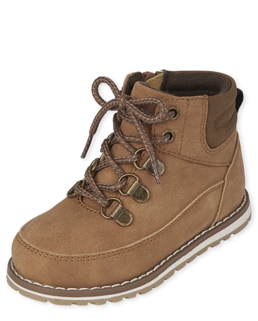 Toddler Boys Lace Up Hi Top Boots