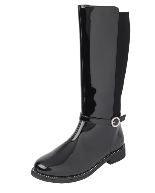 Girls Jeweled Tall Boots