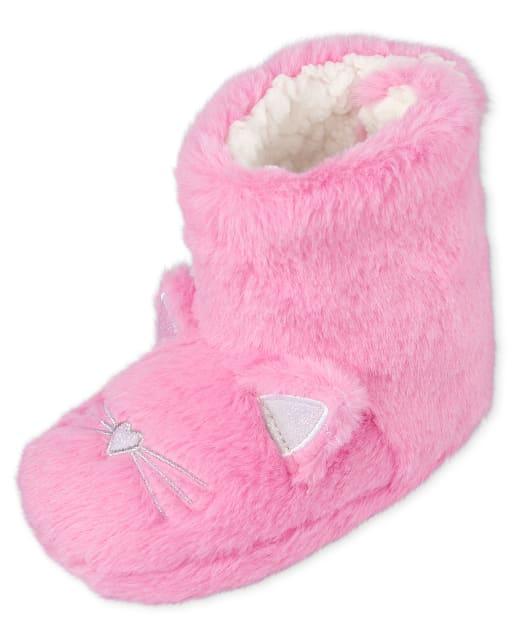 Toddler Girls Cat Bootie Slippers