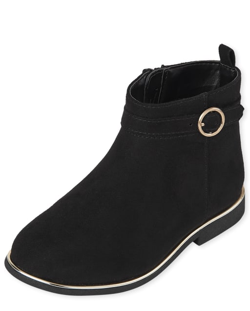 Toddler Girls Faux Suede Buckle Booties