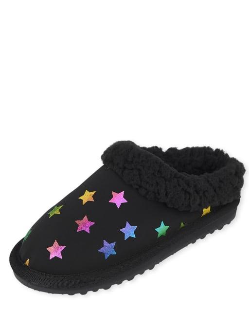 Girls Rainbow Star Scuff