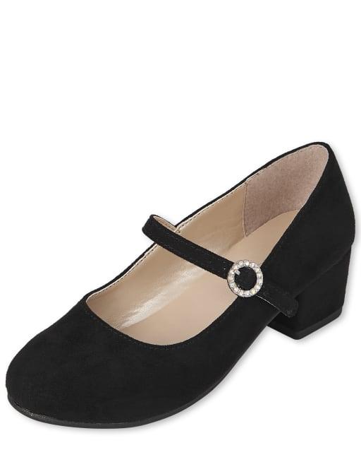 Girls Jeweled Heel Shoes