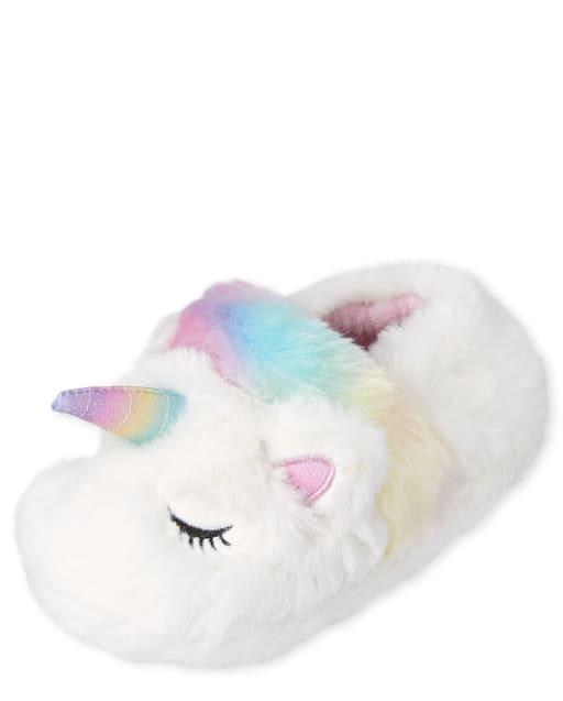 Toddler Girls Unicorn Slippers