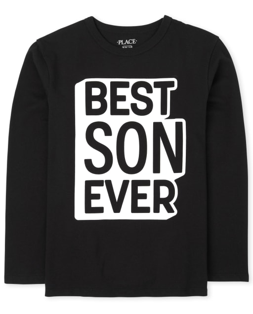 Boys Matching Family Long Sleeve 'Best Son Ever' Graphic Tee