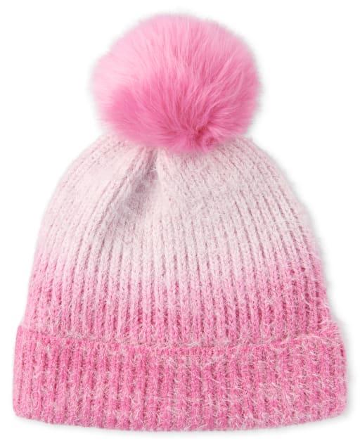 Girls Ombre Cozy Pom Pom Hat
