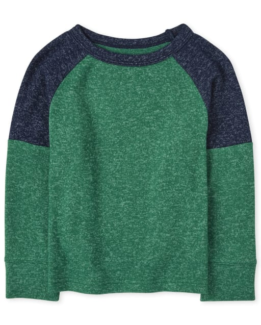 Baby And Toddler Boys Long Sleeve Colorblock Lightweight Sweater Top