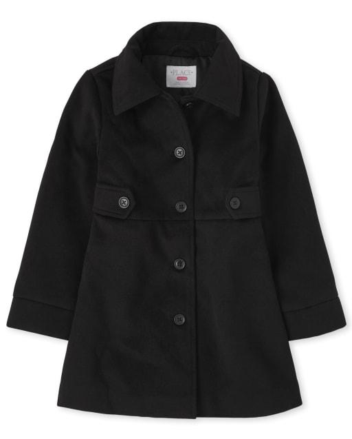 Girls Long Sleeve Dressy Coat