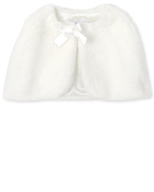 Capa de piel sintética para niñas