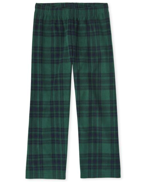 Pantalones de pijama de lana a cuadros para niños