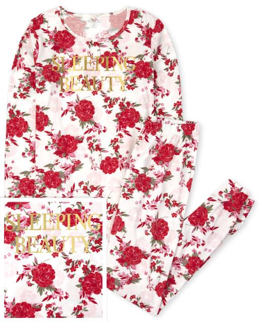 Mujer Mommy And Me manga larga ' Bella Durmiente ' Pijama de algodón a juego con estampado floral