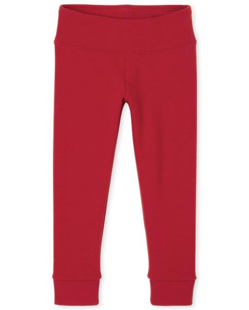 Girls Hi-Rise Knit Cozy Leggings