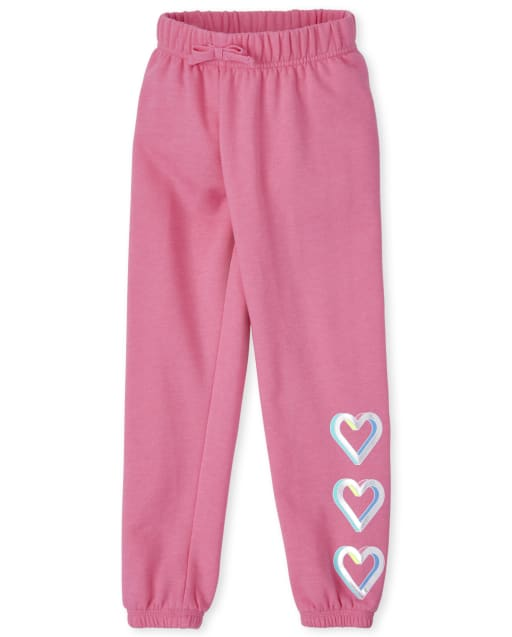 Girls Active Fleece Jogger Pants