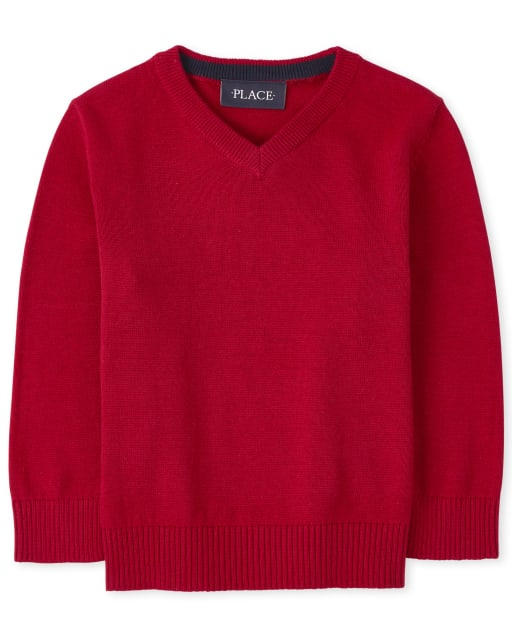 Baby And Toddler Boys Long Sleeve V Neck Sweater