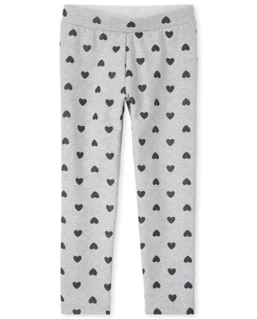 Girls Print French Terry Knit Cozy Leggings