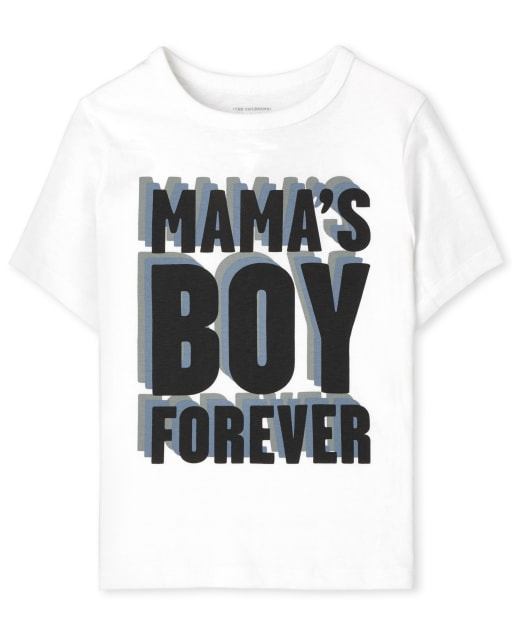 Baby And Toddler Boys Short Sleeve Mama's Boy Graphic Tee