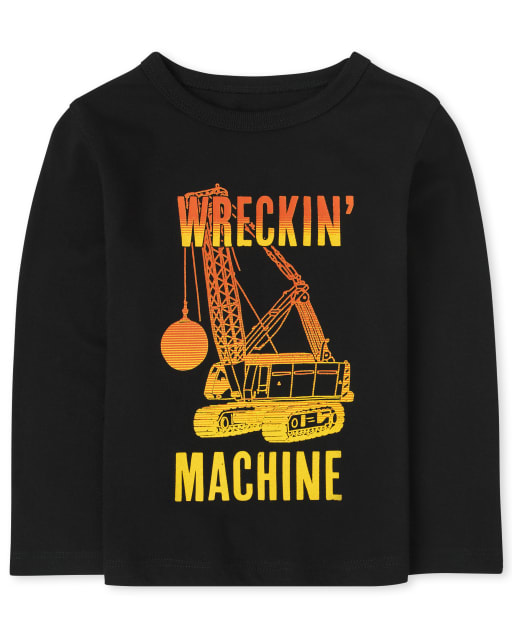Baby And Toddler Long Sleeve Boys Wrecking Ball Graphic Tee