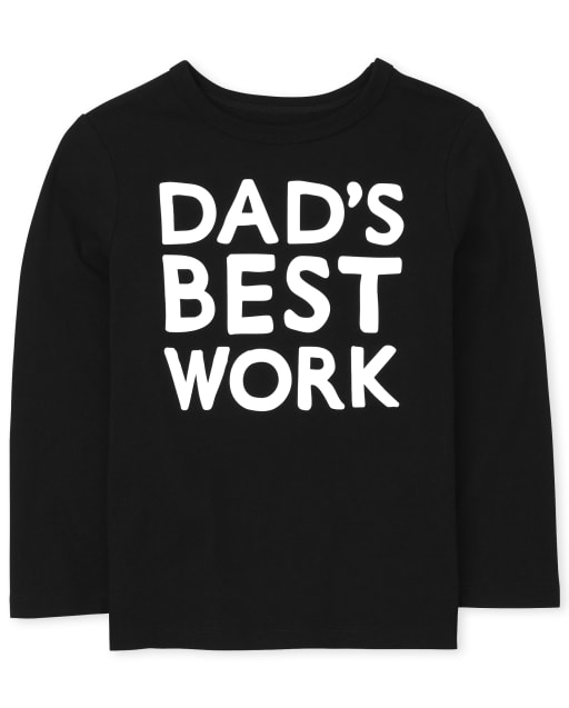 Baby And Toddler Boys Long Sleeve Best Work Graphic Tee