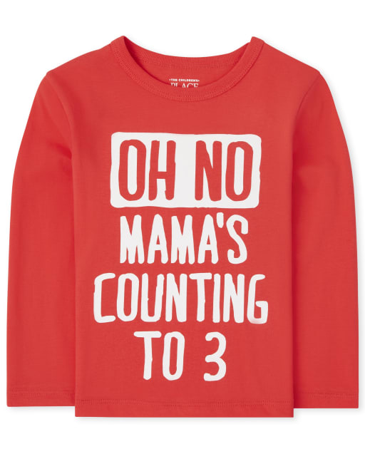 Baby And Toddler Boys Long Sleeve Mama Graphic Tee