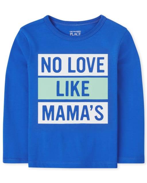 Baby And Toddler Boys Long Sleeve Love Mama's Graphic Tee