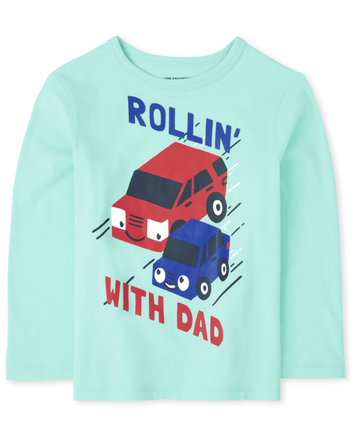 Baby And Toddler Boys Long Sleeve Dad Graphic Tee