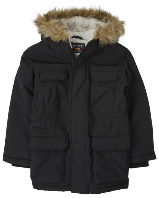 Boys Long Sleeve Parka Jacket