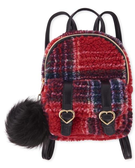 Girls Plaid Mini Backpack