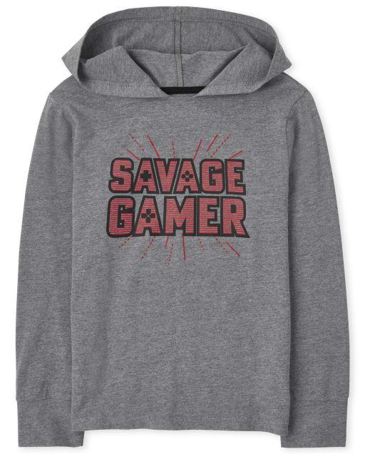 Camiseta de manga larga con capucha ' Savage Gamer '