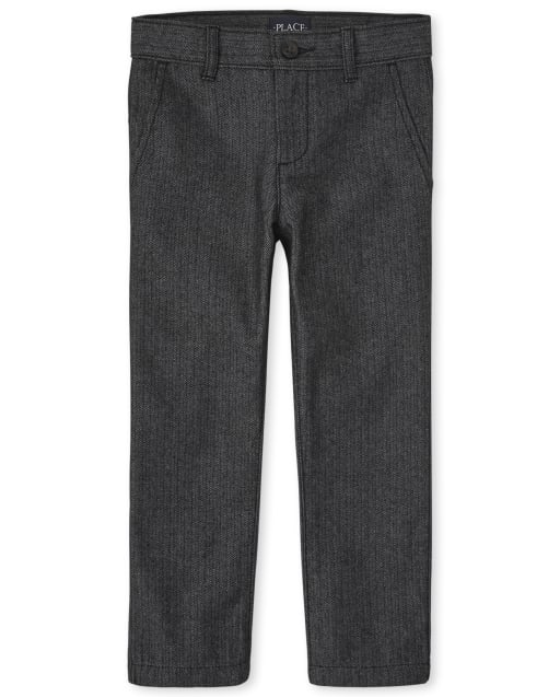 Boys Skinny Woven Dress Pants