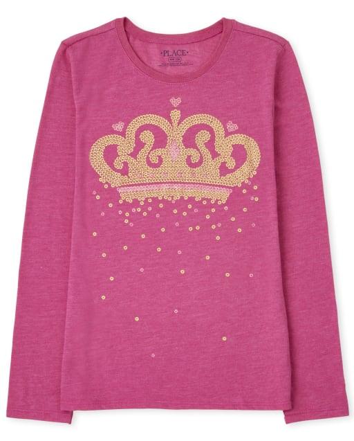 Girls Long Sleeve Princess Graphic Tee