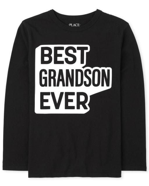 Camiseta de manga larga familiar a juego para niños ' Best Grandson Ever '
