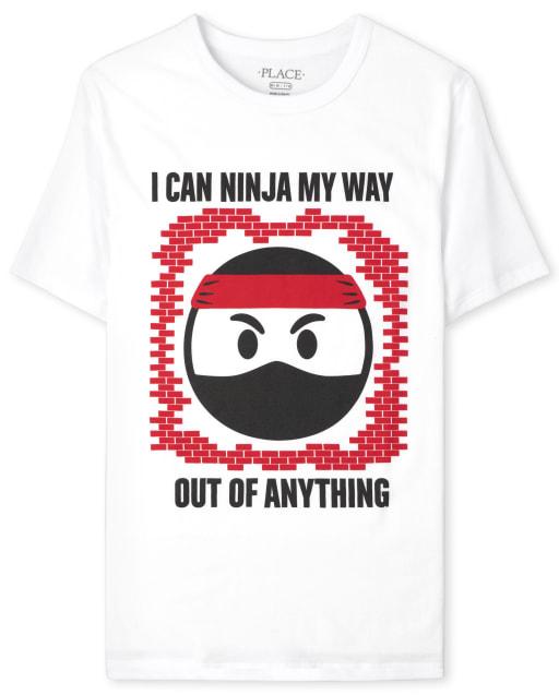 Boys Short Sleeve Ninja Graphic Tee