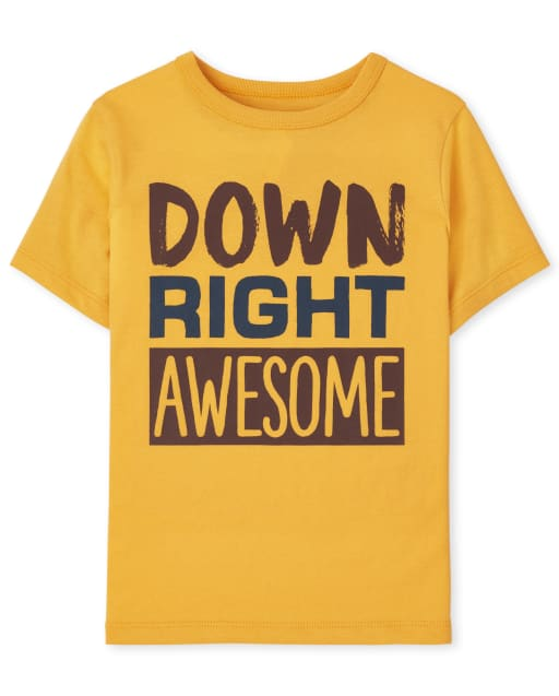 Baby And Toddler Boys Short Sleeve Awesome Graphic Tee