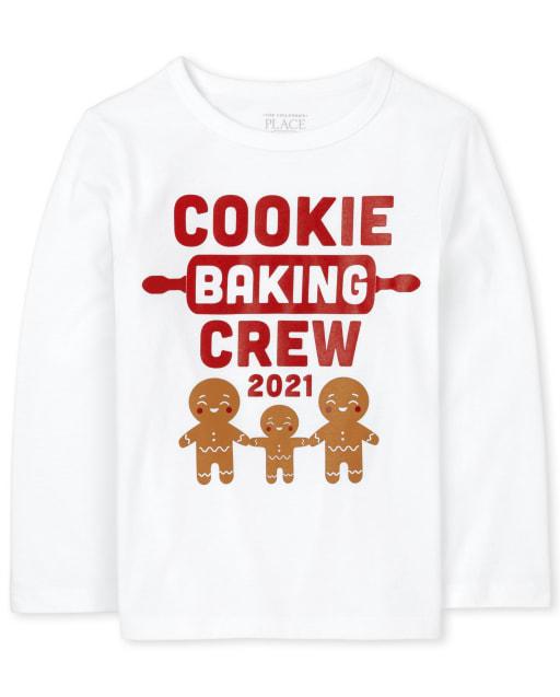 Camiseta unisex con estampado de equipo de panadería familiar a juego para bebés y niños pequeños