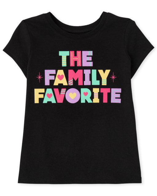 Baby And Toddler Girls Short Sleeve Family Favorite Graphic Tee