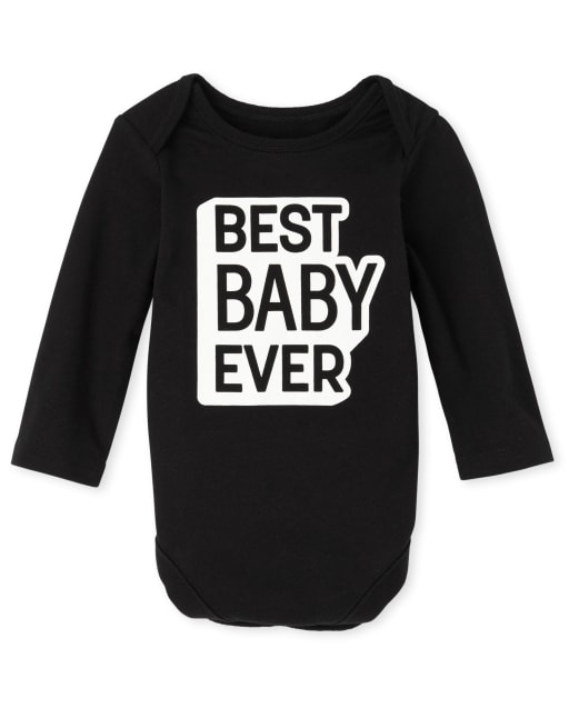 Body de manga larga unisex para bebé a juego con la familia ' mejor bebé de todos los tiempos '