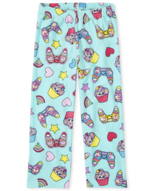 Pantalón de pijama de vellón para videojuegos para niñas