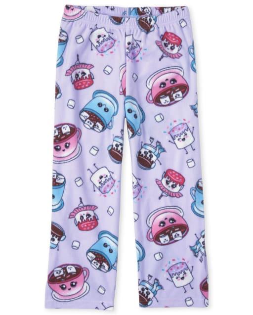 Pantalón de pijama de polar de chocolate caliente para niñas