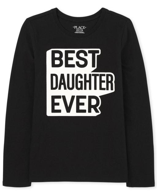 Camiseta de manga larga familiar a juego para niñas ' mejor hija de todos los tiempos '