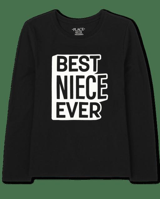 Camiseta de manga larga con estampado familiar ' Best Niece Ever '